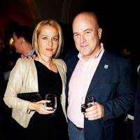 Gillian Anderson and Andrew Paulson