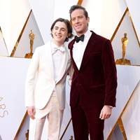 Timothée Chalamet in Berluti and Armie Hammer in Giorgio Armani