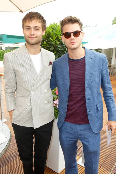 Douglas Booth and Jeremy Irvine