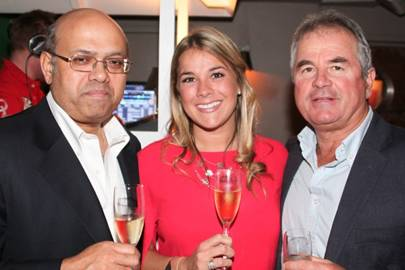 Naynesh Desai, Katie-ann Lamb and Allan Lamb
