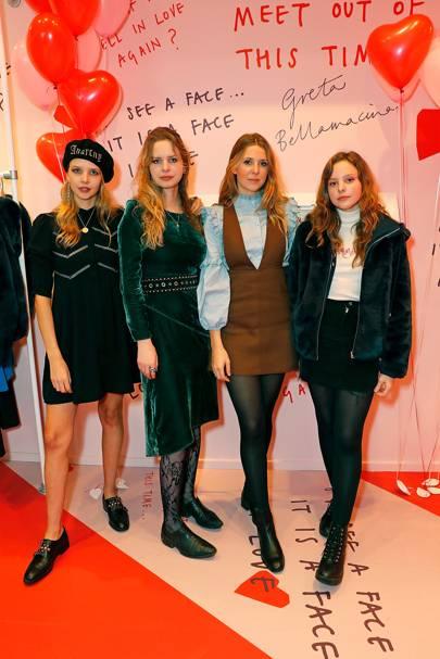 Greta Bellamacina, Cosima Bellamacina, Camilla Bellamacina and Sylvie Bellamacina