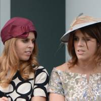With Princess Beatrice at the Investec Derby, 2013