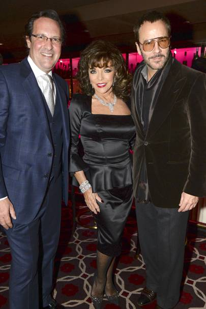 Percy Gibson, Joan Collins and Tom Ford