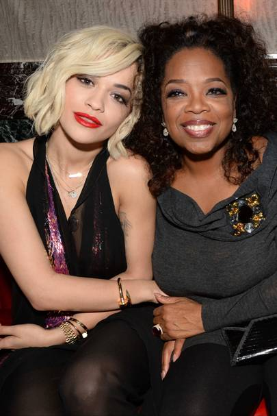 Rita Ora and Oprah Winfrey
