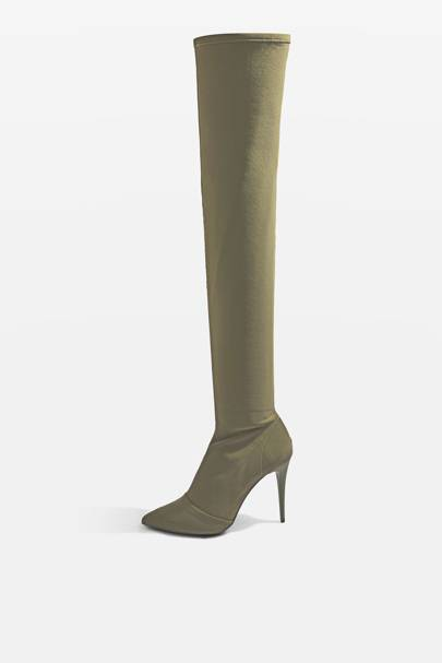 Topshop thigh-high boots