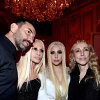 Riccardo Tisci, Donatella Versace, Lady Gaga and Franca Sozzani