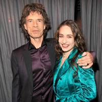 With dad Mick Jagger at The Grammy Awards, February 2011