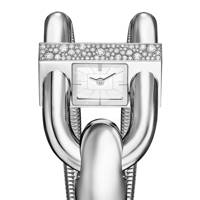 White-gold and diamond watch, £29,700, by Van Cleef & Arpels