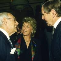 Sir Denis Thatcher, Mrs Tommy Sopwith and Tommy Sopwith