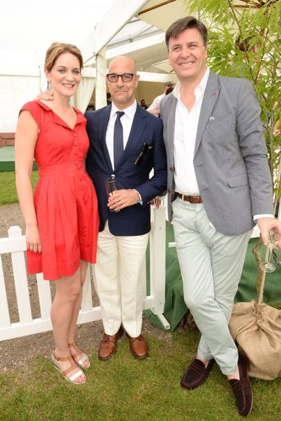 Felicity Blunt, Stanley Tucci and Paul James