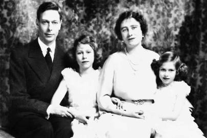1937: With her parents King George VI and Queen Elizabeth, and her sister Princess Elizabeth