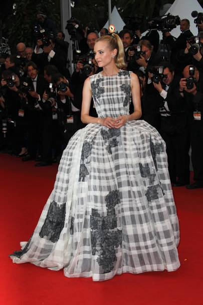 Diane Kruger wearing Dior Haute Couture in 2012