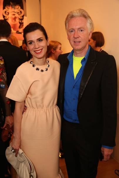 Lara Bohinc and Philip Treacy