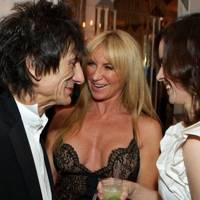 Ronnie Wood, Meg Matthews and Sally Humphries
