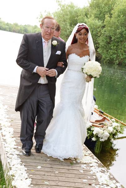 Andrew Neil and Phoebe Vela