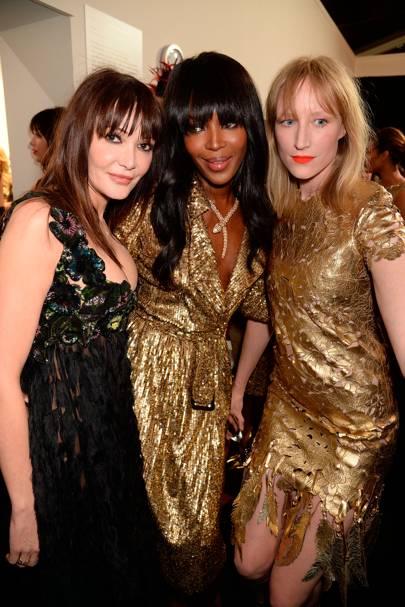 Annabelle Neilson, Naomi Campbell and Jade Parfitt, 2015