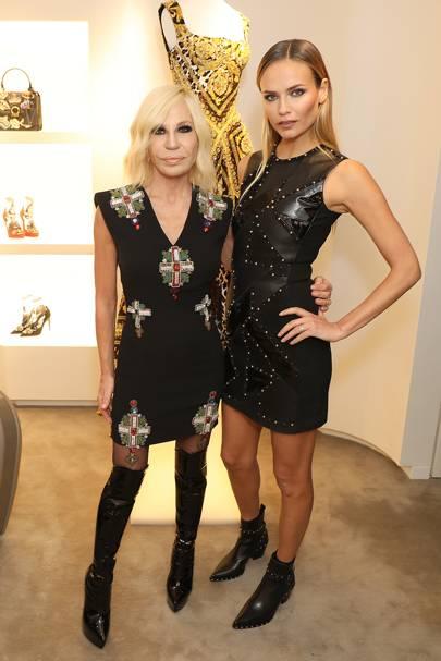 Donatella Versace and Natasha Poly
