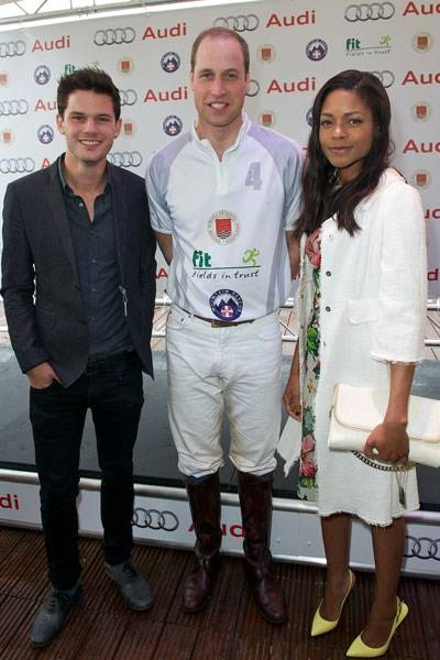 Jeremy Irvine, The Duke of Cambridge and Naomie Harris