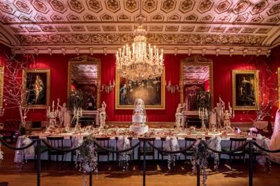 Miss Havisham's wedding breakfast in the Great Dining Room at Chatsworth