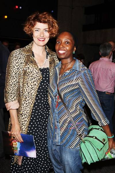 Anna Chancellor and guest