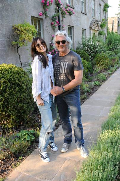 Daisy Lowe and Robin Hutson