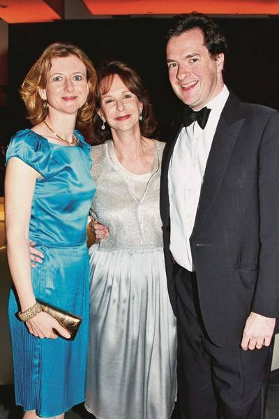 The Hon Frances Osborne, Lady Osborne and George Osborne