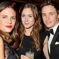 Victoria Parker, Hannah Bagshawe and Eddie Redmayne