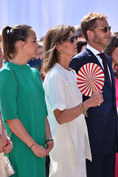 Pauline Ducruet, Princess Caroline of Hanover and Andrea Casiraghi