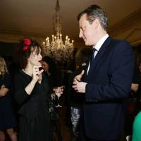 Helena Bonham-Carter and David Cameron