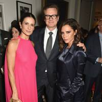 Livia Firth, Colin Firth and Victoria Beckham
