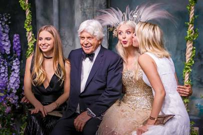 Princess Talita von Furstenberg, Robert Warren Miller, Isabel Getty and Princess Olympia of Greece