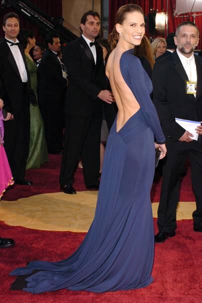 Hilary Swank wearing Guy Laroche in 2005