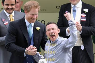 Prince Harry and Frankie Dettori