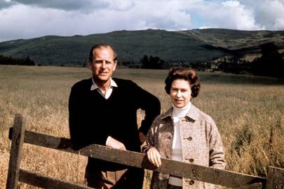 Prince Philip and the Queen at Balmoral to celebrate their silver wedding anniversary, 1972