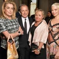 Catherine Deneuve, Michael Burke, Brigitte Burke and Michelle Williams