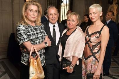Catherine Deneuve, Michael Burke, Brigitte Burke and Michelle Williams
