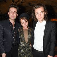 Nick Grimshaw, Jaime Winstone and Harry Styles