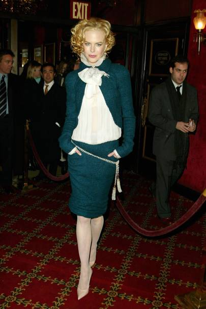 Wearing Chanel at the 'Cold Mountain' premiere, 2003