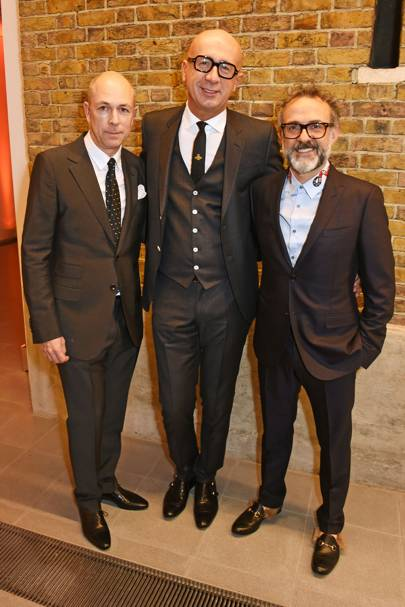 Dylan Jones, Marco Bizzarri and Massimo Bottura