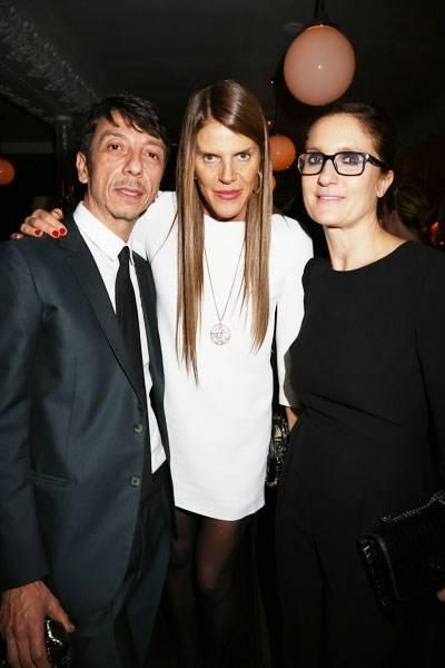 Pierpaolo Piccioli, Anna Dello Russo and Maria Grazia Chiuri