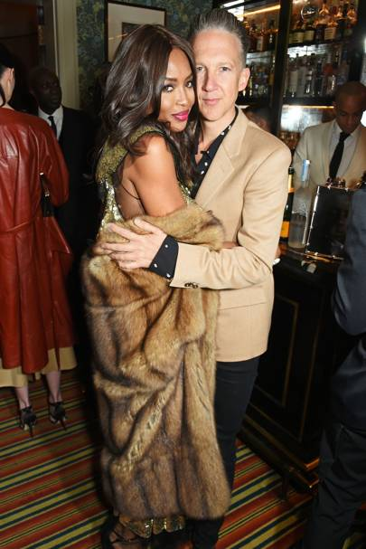 Naomi Campbell and Jefferson Hack
