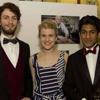 Tom Clarke, Helen Brannigan and guest