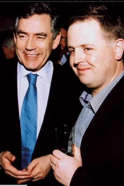 Gordon Brown and Matthew d'Ancona