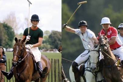Cutting a dash on the polo field
