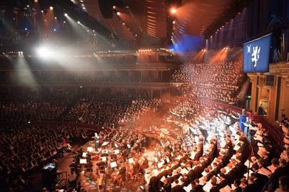 The interior of the Royal Albert Hall