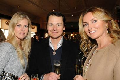 Louisa Dawnay, Sebastian Dawnay and Bettina Bahlsen
