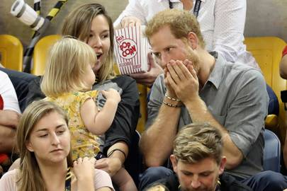 'I'm starting to think this competition to see how many pieces of popcorn I can fit into my mouth was a mistake...'