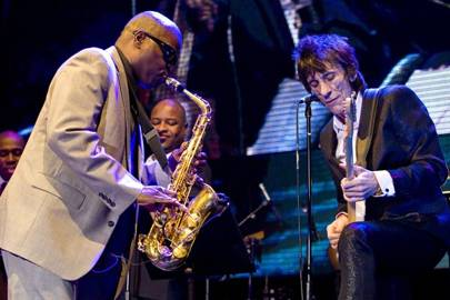 Maceo Parker and Ronnie Wood