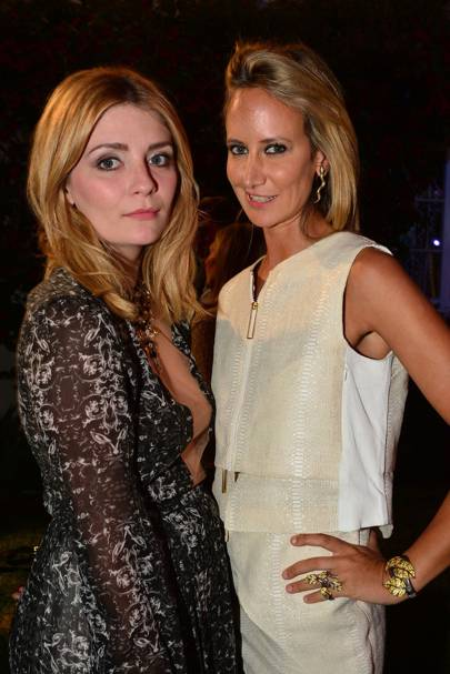 Mischa Barton and Lady Victoria Hervey