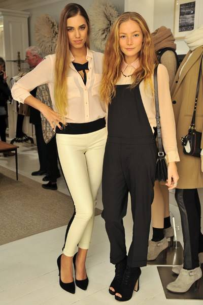 Amber Le Bon and Clara Paget